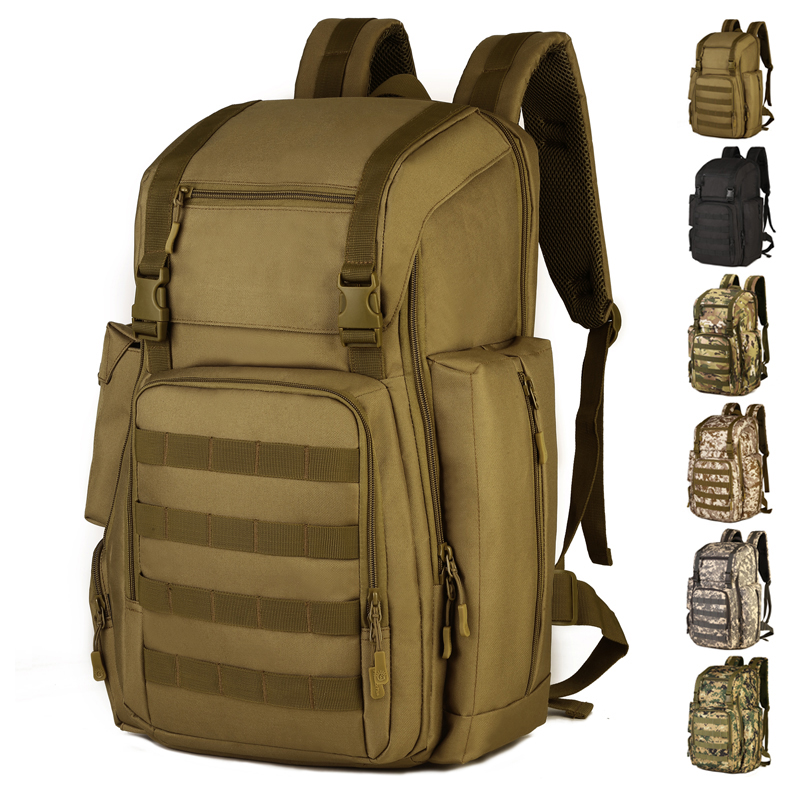 40L Large Camo Tactical Backpack With Shoes Compartment Outdoor Sports Laptop Knapsack Waterproof Molle Military Backpack S42140L Large Camo Tactical Backpack With Shoes Compartment Outdoor Sports Laptop Knapsack Waterproof Molle Military Backpack S421