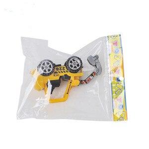 Image 5 - 1PC Carino Mini Auto Giocattoli Diecast Veicolo Costruzione Bulldozer Escavatore Ingegneria Del Veicolo Kit Per Bambini Mini Auto Ingegneria