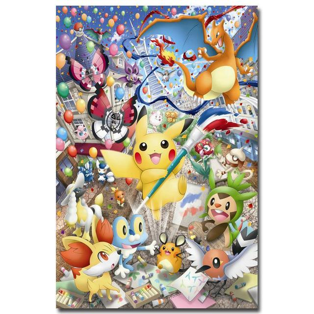 nicoleshenting pokemon xy anime game art silk poster 12x18 24x36