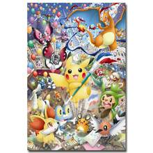 NICOLESHENTING Pokemon XY Anime Game Art Silk Poster 12x18 24x36 inches Pocket Monster Pikachu Wall Picture 005(China)