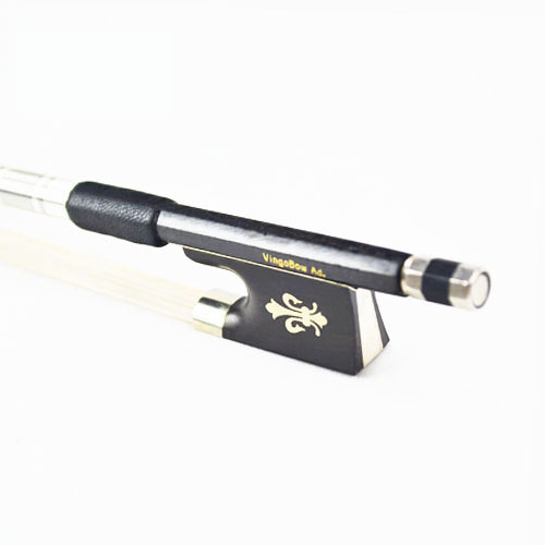FREE SHIPPING 4/4 Size 114V Woven Carbon Fibre VIOLIN BOW Straight High Quality Ebony Frog White Mane Violin Parts Accessories free shipping 4 4 size 430c pernambuco cello bow high quality ebony frog with shield pattern white hair cello parts accessories