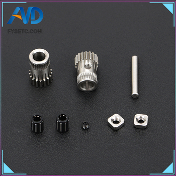 5Sets 3D Printer Cloned Btech Dual Gears DIY Prusa i3 Steel Pulleys Kit 3D Printer Gears Extrusion Wheel For Prusa i3 MK2/MK3