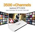 Caja IPTV Streaming de Leadcool Android Wifi 1G/8G 3400 + Italia Portugal Francés Árabe IPTV Receptor de Europa cielo IPTV Canales Paquete