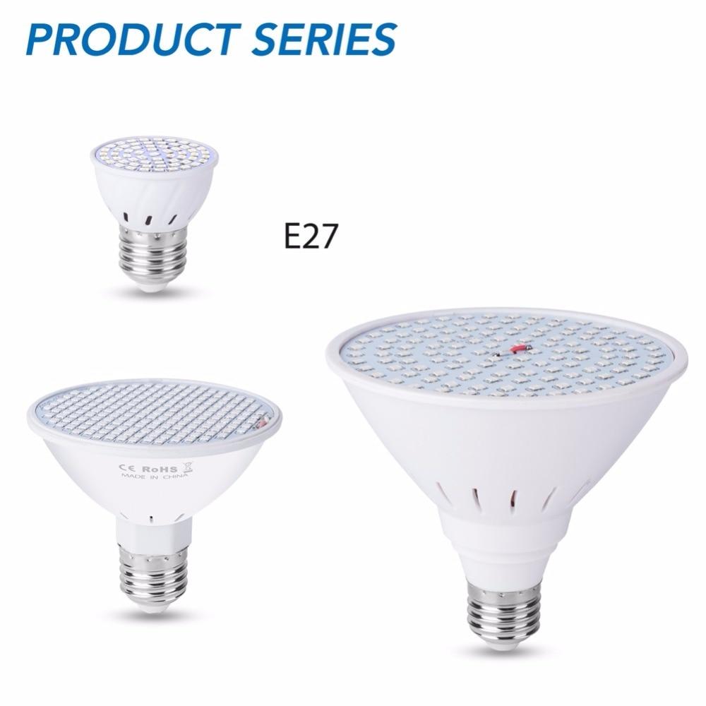 Full Spectrum 220V Led Hydroponics Light E27 Led Grow Bulb 60 126 200leds Growing Box Phyto Lamps For Vegetable Seedling Plant in LED Grow Lights from Lights Lighting