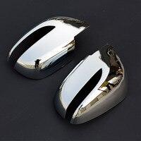KOUVI ABS Chrome Side Achteruitkijkspiegel Cover Sticker Molding Garneer Accessoires voor 2010 11 12 13 14 15 Hyundai IX35 Auto styling