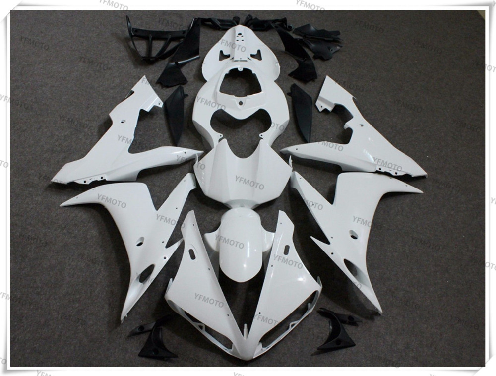 Motorcycle Unpainted White Fairings BodyWork Kit For YAMAHA YZF-R1 YZF R1 2004 2005 2006 +4 Gift motorcycle arashi radiator grille protective cover grill guard protector for yamaha yzf r1 2004 2005 2006