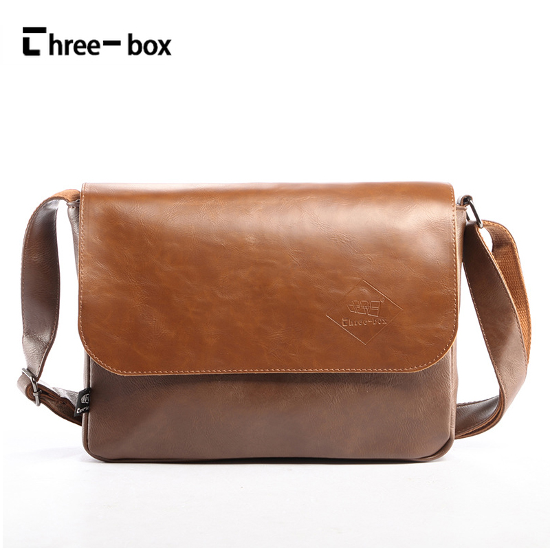 Three-box 2017 New Famous Brand Men Bags Lether Casual Crossbody Shoulder Bags Korean Vintage Men's Messenger Bag Male Bolsas saimi skdh145 12 145a 1200v brand new original three phase controlled rectifier bridge module