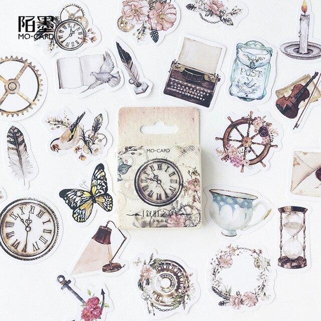 Diario de viaje Vintage de papel de artesanía diario pegatinas japonesas Scrapbooking suministros para profesores