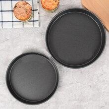 Non-stick Pizza Pan 8/9/10 inch Kitchen Baking Trays Pan Carbon Steel Round Kitchen Pizza Pie Bread Loaf Pans Kitchenware