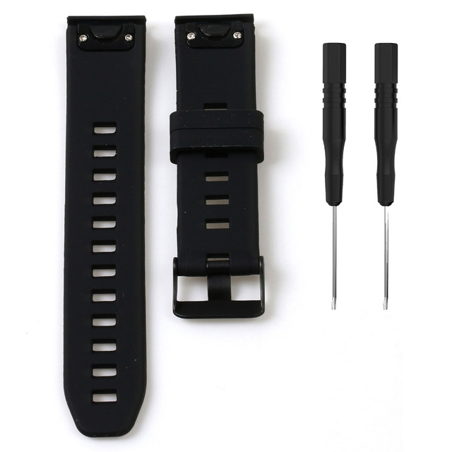 20 22 26mm Quick release Silicone Wrist Band Strap With Buckle for Garmin Fenix5