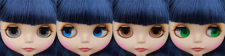 Neo Blythe Doll with Blue Hair, White Skin, Matte Face & Jointed Body 1