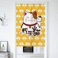 Японская дверь Lucky Cat  занавеска  занавеска для гостиной  спальни  занавес  занавеска для входа в Норен  фэн шуй  занавес для двери