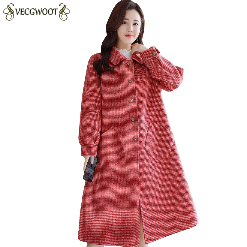 Tamaño Lj045 Mujeres Las Invierno Otoño Manga Chaqueta pink Beige Lana Moda  De Breasted Solo red ... 0ec665981875