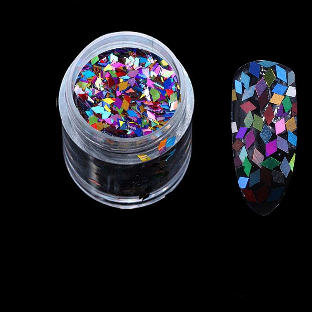 Nagelglitzer 10 Ml/box Raute Paillette Pailletten 2,0 Mm Laser Silber Flakes Nail Art Pailletten Bunte Glitter Paillette Maniküre Zubehör