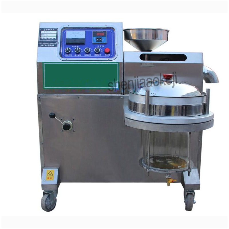 Commercial Oil Pressers Stainless Steel Peanuts oil presser pressing machine sesame, sunflower seeds high Oil yield oil presser free shipping home use cold olive oil press machine nuts seeds oil presser pressing machine all stainless steel peanuts oil