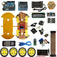 Bluetooth Smart Car Робот салона автомобиля интеллектуальная автомобилей DIY салона автомобиля для Arduino робот образования программирования