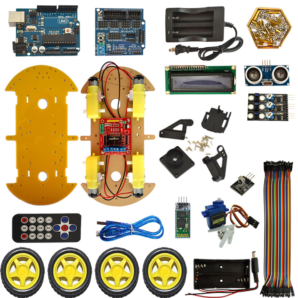 цена на Bluetooth Smart Car Robot Smart Car Intelligent Car DIY Smart Car For Arduino Robot Education Programming