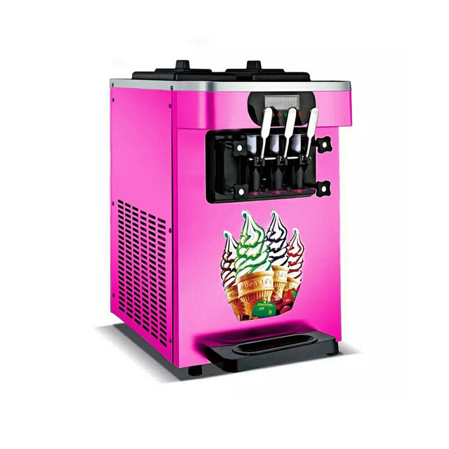 Italian Pink color soft serve ice cream maker ice cream making machine for sale