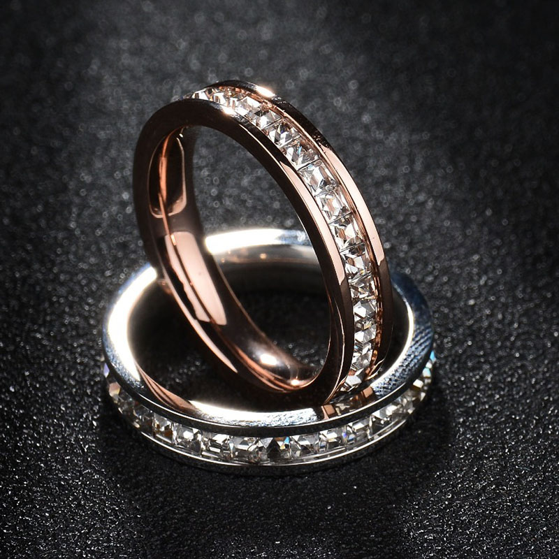 High Quality Stainless Steel Women Wedding Ring Never Fade Gold ...
