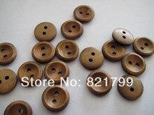 18lウッドボタン用babay布2穴木製ボタン用ポロブラウスファッションボタン