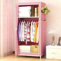 Minimalist Cloth Wardrobe Student Dormitory Single Small Fabric Wardrobe Folding Clothing Storage Cabinet Home Furniture Closet