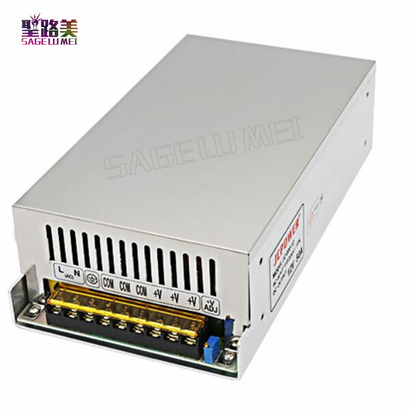 Free shipping DC 12V 50A 600W switching power supply AC 110V 220v input Transformer industrial switching LED driver For led tape meanwell 12v 350w ul certificated nes series switching power supply 85 264v ac to 12v dc