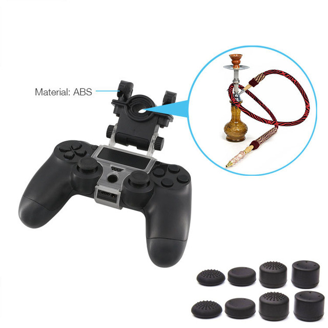 180 Degree Adjustable Tobacco Pipe Clip Holder Bracket for Playstation 4  PS4 Slim / PS4 PRO Mount Stand With 8 Thumbstick Caps-in Replacement Parts  &