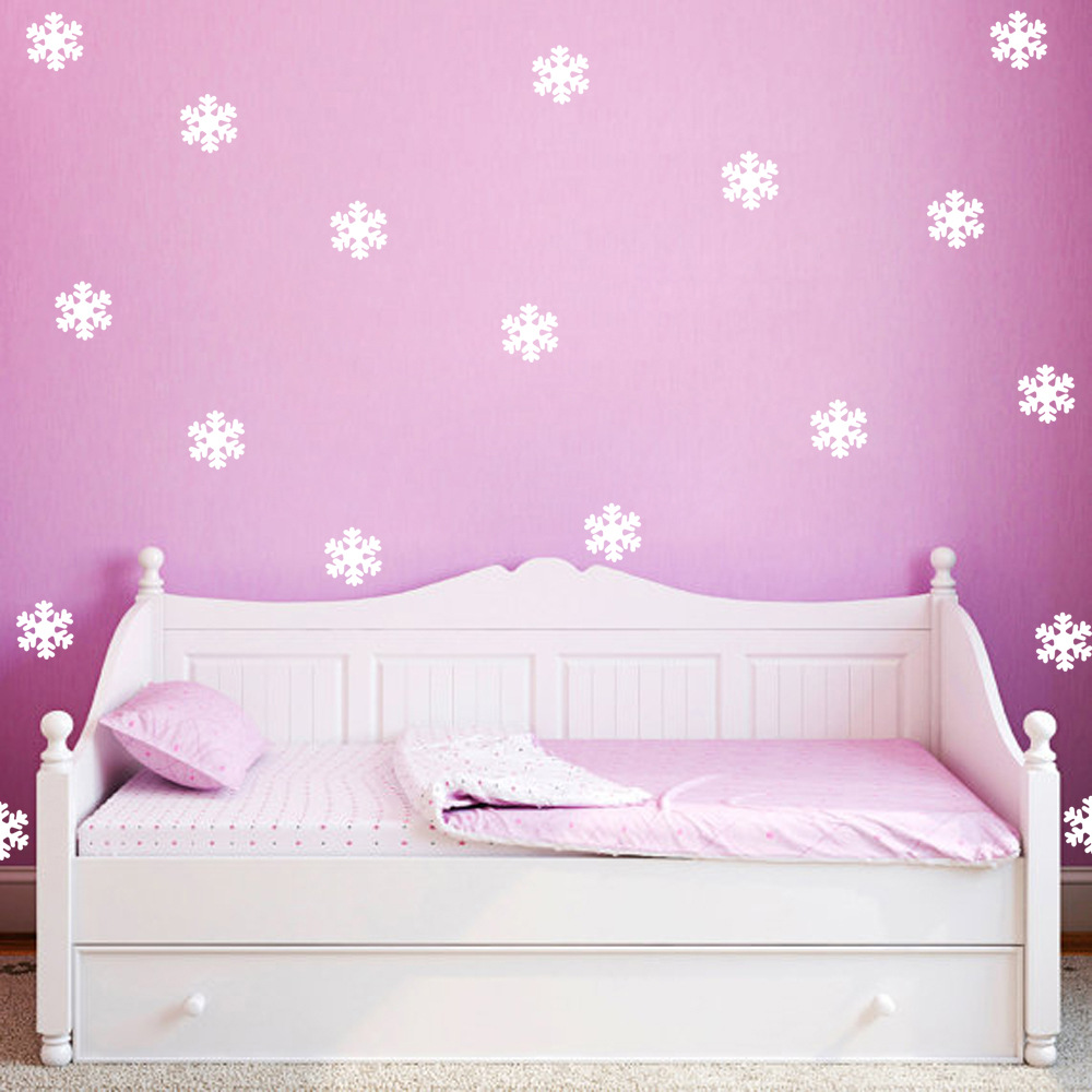 12pcs Merry Christmas White Snow Frozen Wall Sticker Snowflake Wall Decals  DIY Vinyl Window Decal New Year Decor Murals A001 In Wall Stickers From  Home ...