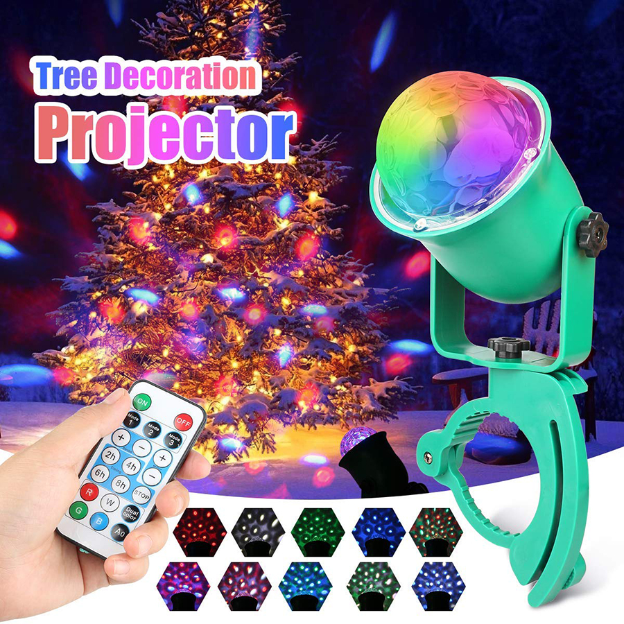 Waterproof LED Water Wave Ripple Stage Effect Lighting Lamp RGBW 10 Color Modes Flame Fire LED Garden Tree Projector light