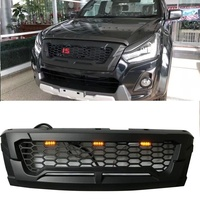 MATTE BLACK FRONT RACING GRILLE GRILLS FRONT BUMPER MASK COVER FIT FOR ISUZU DMAX D MAX 2016 2018 GRILL AUTO EXTERIOR COVERS