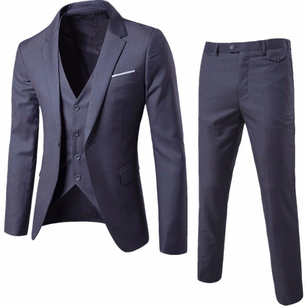 (Пиджак + брюки + жилет) роскошные свадебные костюмы для мужчин повседневные мужские пиджаки для женщин Slim Fit костюмы мужской костюм бизнес