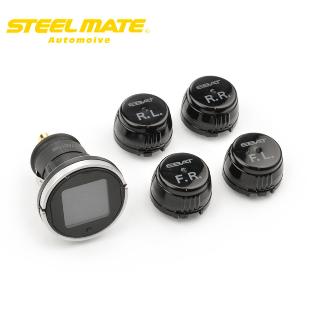Steelmate 2017 ET-710AE TPMS tire Pressure Monitoring System Monitorwith 4 External Wireless Sensor Car Display LCD  steel mate steelmate tp 11 tpms tire pressure monitoring system lcd 4 valve cap external sensor bar psi pressure unit wireless transmission