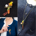 Nova Chegada Pingente E Broche Dupla Utilização Mulheres Papagaio Broche/Colorido Strass E Pérolas Mulheres Pingente de Animais