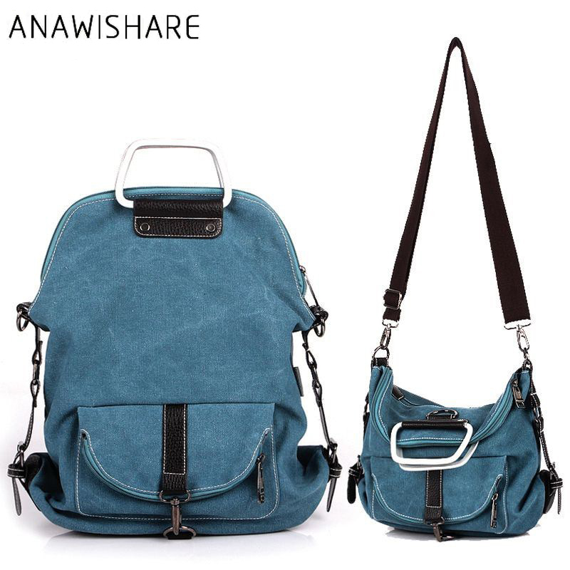 Us 19 75 21 Off Anawishare Fashion Women Canvas Handbags Large Shoulder School Bags For Agers S Crossbody Messenger Las Tote In