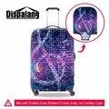 Dispalang прохладный музыкальная нота чемодан крышка спандекс тележки для багажа защитная крышка применить к 18-30 дюймов случаи путешествия аксессуары