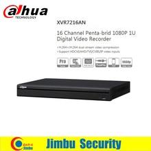 Dahua XVR video recorder 16ch replace NVR and DVR DHI-XVR7216AN P2P Support HDCVI/ AHD/TVI/CVBS/IP 1080P 1U Digital Video Record