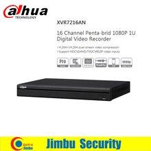 Dahua XVR video recorder 16ch XVR7216AN P2P Support HDCVI/ AHD/TVI/CVBS/IP 1080P 1U Digital Video Record P2P function support