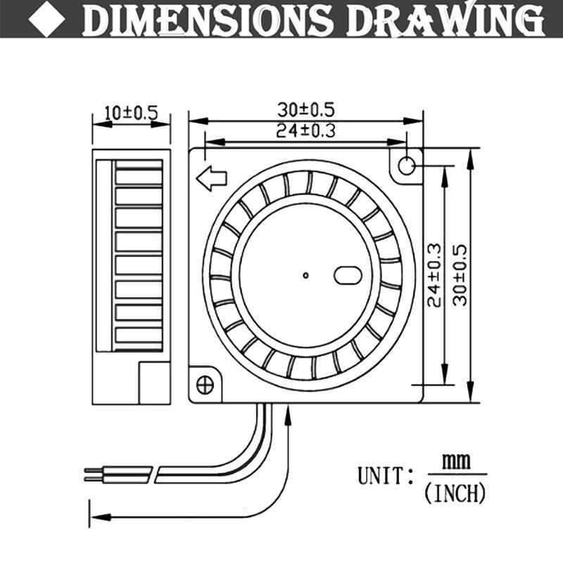 Купить с кэшбэком 2Pcs Gdstime 30mm 3cm 3D Pritner Fan 5v 12v 24v Blower Fan Ball/Sleeve Bearing 30mm x 30mm x 10mm Blower Cooling Cooler Fan