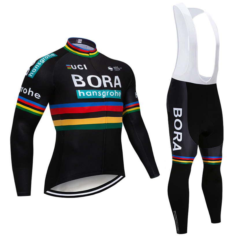 Зима 2018 черный BORA велосипедная Форма велосипед брюки для девочек комплект Ropa Ciclismo для мужчин ветрозащитный термальность флис Велосипедный ...