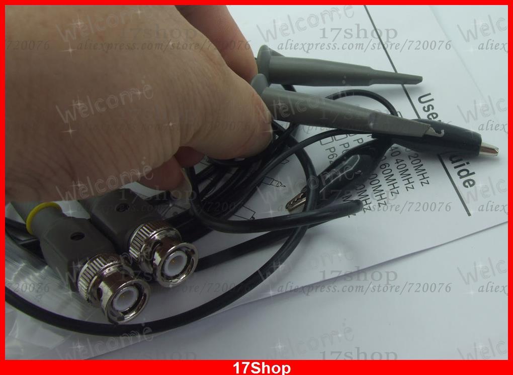 1 pair BNC to Test hook Alligator clip 100MHz Oscilloscope clip Test probes