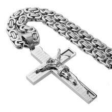 Кулон серебряного цвета с крестиком новинка модные ювелирные