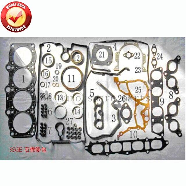 Комплект полной прокладки двигателя 3SGE для Toyota CELICA ST182 MR2 REV 2 GT 2.0L 16V 1998cc 89-2000 04111-74390 04111-74220 50251500