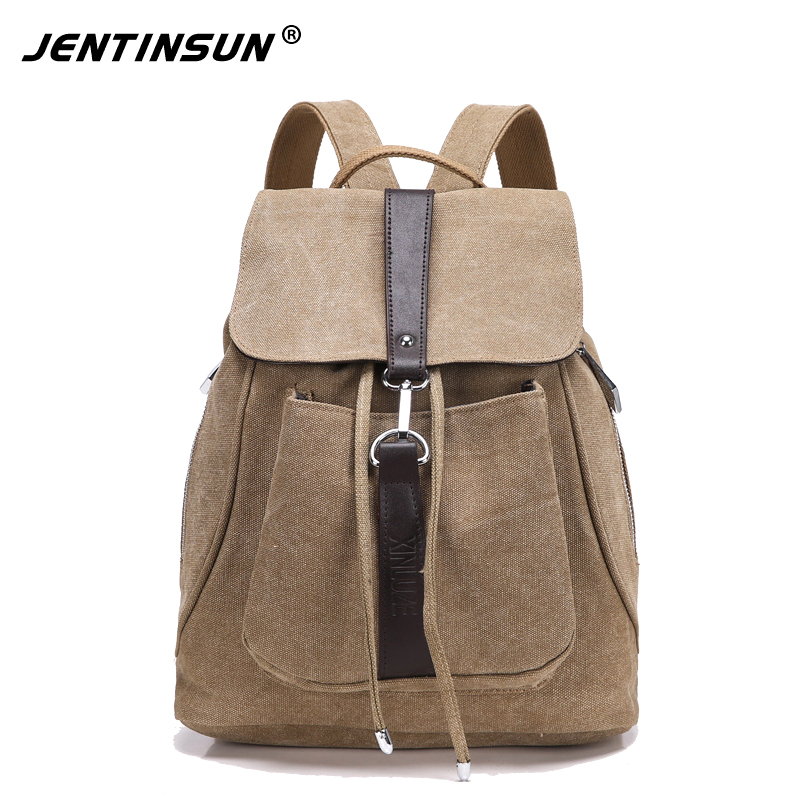 2017 Vintage Women Canvas Backpacks Ladies Shoulder School Bag Rucksack For Girls Backpack Travel Drawstring Bag Bolsas Mochila
