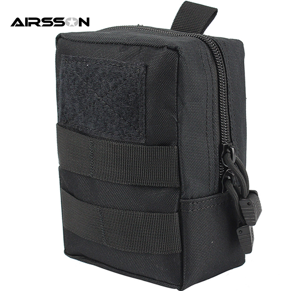 Outdoor Tactical Molle EDC Pouch Utility Gadget Belt Waist Bag 1000D Military Equipment Portable Waterproof Camping Hiking Bags tactical molle pouch cell phone case belt clip holster edc utility gadget 1000d nylon men waist bag outdoor gear black