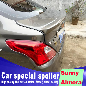 2011 2012 2013 2014 2015 2016 2017 For nissan Almera streamline high quality ABS spoiler by primer or black white paint sunny