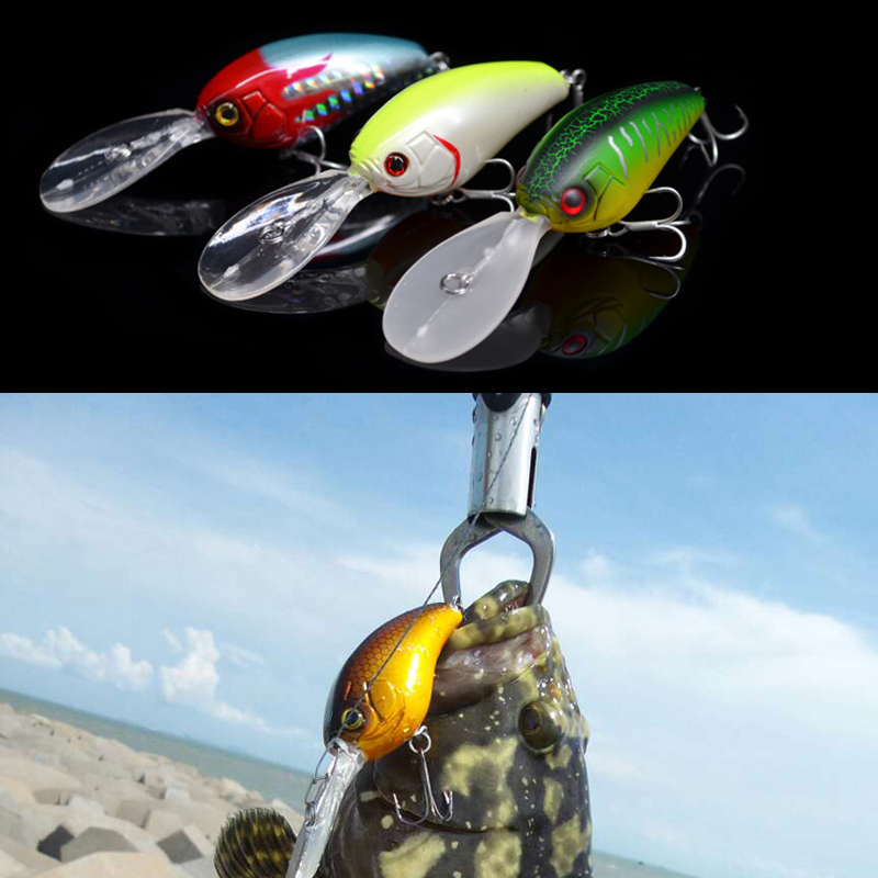Fishing Lure Crankbait 15.5g/16.8g wobbler Deep Dive Crank Baits Artificial Lures Lot 3 Pieces JACKALL Mascle Deep 7m цена 2017