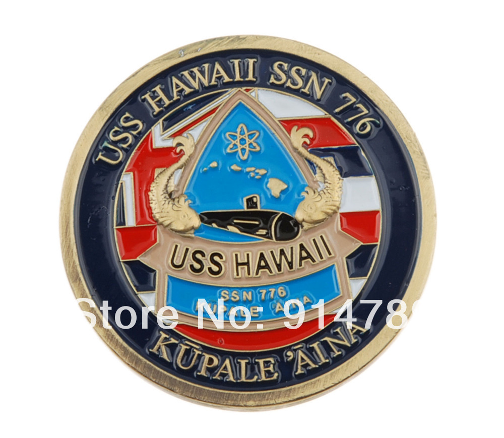 US USS HAWAII SSN 776 CHALLENGE COIN-34018
