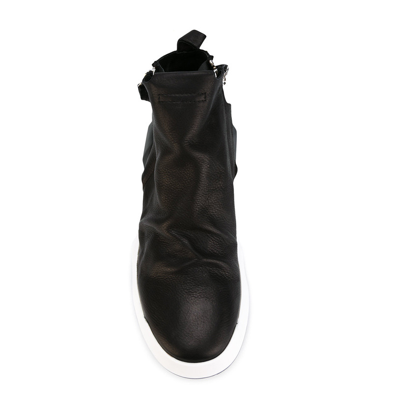 new winter men leather boots Riding Korean head low to help England zipper boots shoes breathable men casual boots fashion