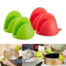 Glove Silicone Mitts Hand-Clip-Holder Kitchen-Accessories Microwave Oven Anti-Hot Heat-Insulation