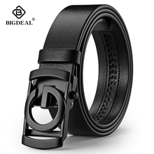 New Arrival Men Belt Cow Genuine Leather Automatic Buckle Fashion Male Strap for Business Casual Jeans Waistband 3.5CM